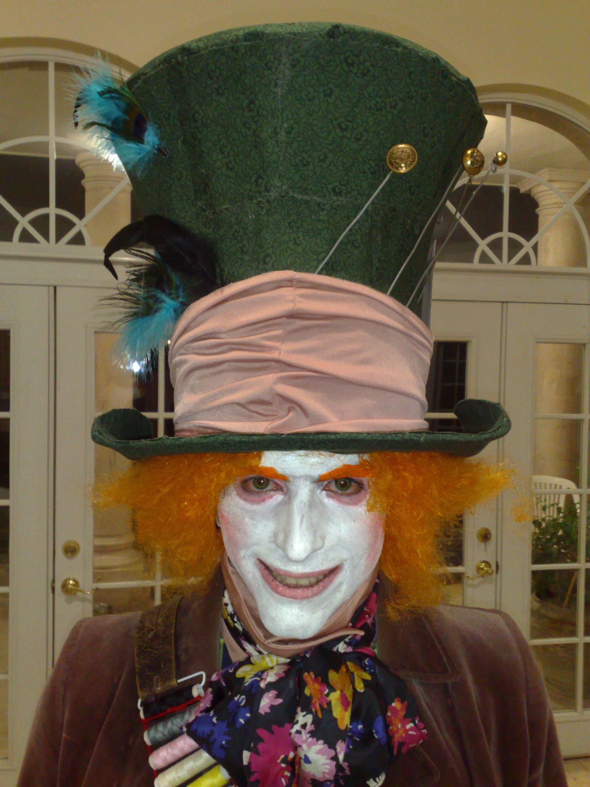 25cm 98 inch Steampunk  Mad Hatter Top Hat  Victorian
